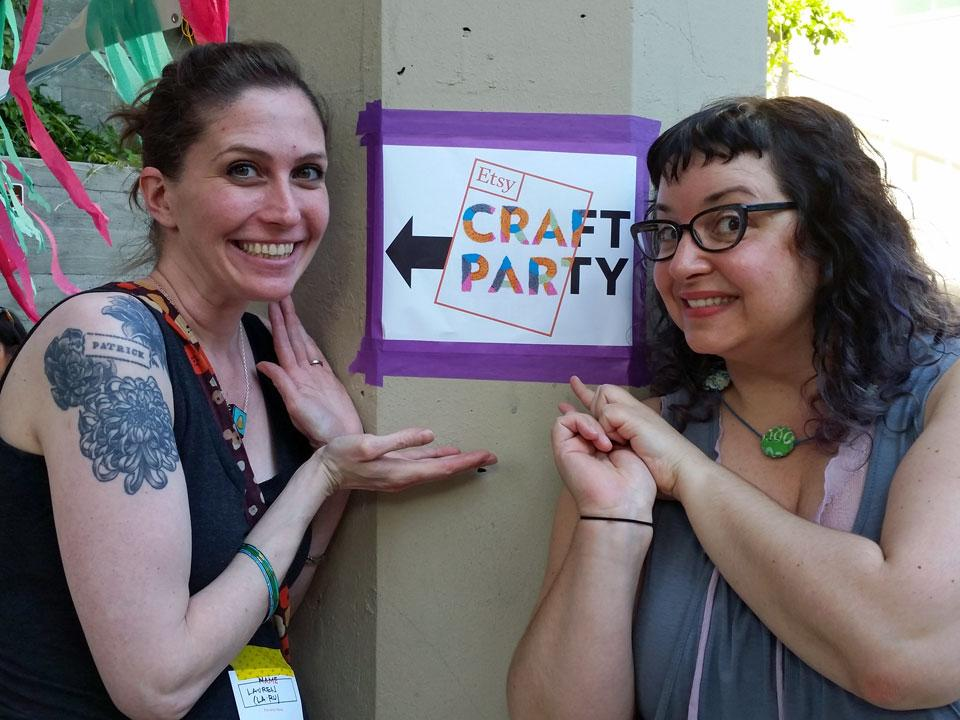 Lauren Rudeck and Rosalie Gale: Etsy Craft Party Seattle 2014