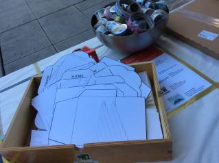 Envelope templates at the Etsy Craft Party 2015 - Seattle Edition
