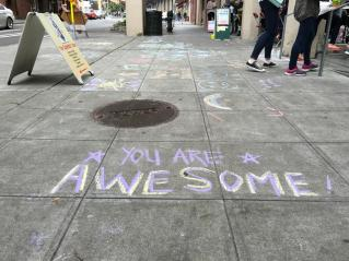 Sidewalk chalk is always a crowd favorite. Photo by Michaela Rose.